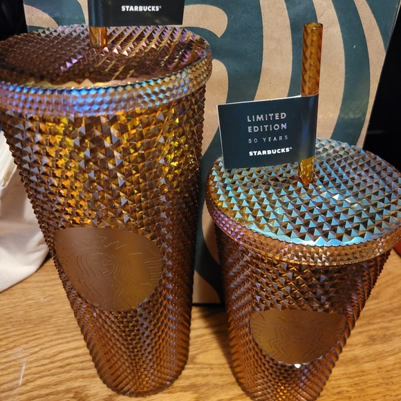 Starbucks gold studded, 50th anniversary limited